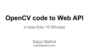 OpenCV code to Web API in under 10 minutes
