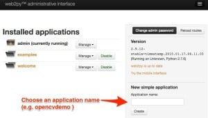 Add application in web2py