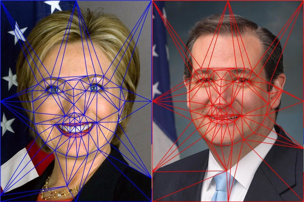 Delaunay Triangulation for Face Morphing