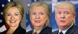 Face Morph : Hilary Clinton and Donald Trump