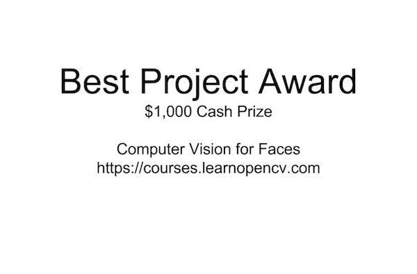 Best Project Award : Computer Vision for Faces