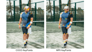 keypoints difference of coco and mpi