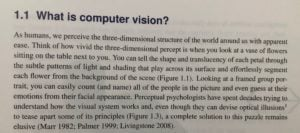 Scanned page of book on Computer Vision