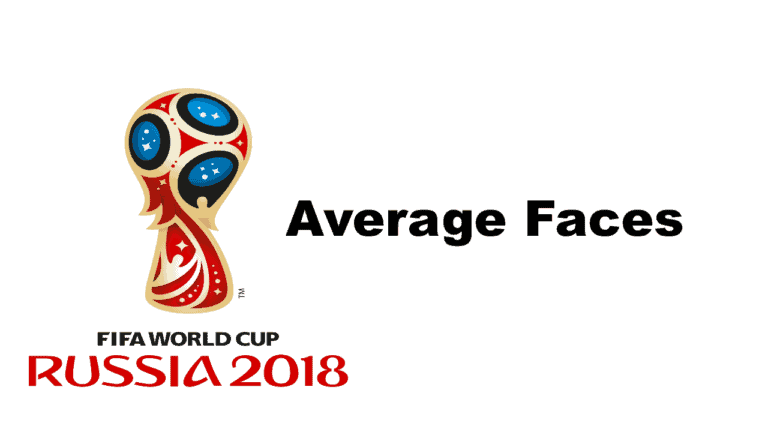 world cup fifa2018 average faces