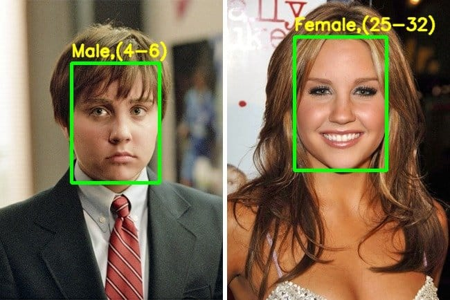 Demo output – Amanda Bynes in the movie She's The Man – gender incorrectly identified.