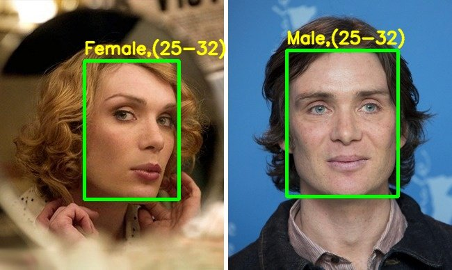 Demo output – Cillian Murphy in the movie Breakfast On Pluto – gender incorrectly identified.