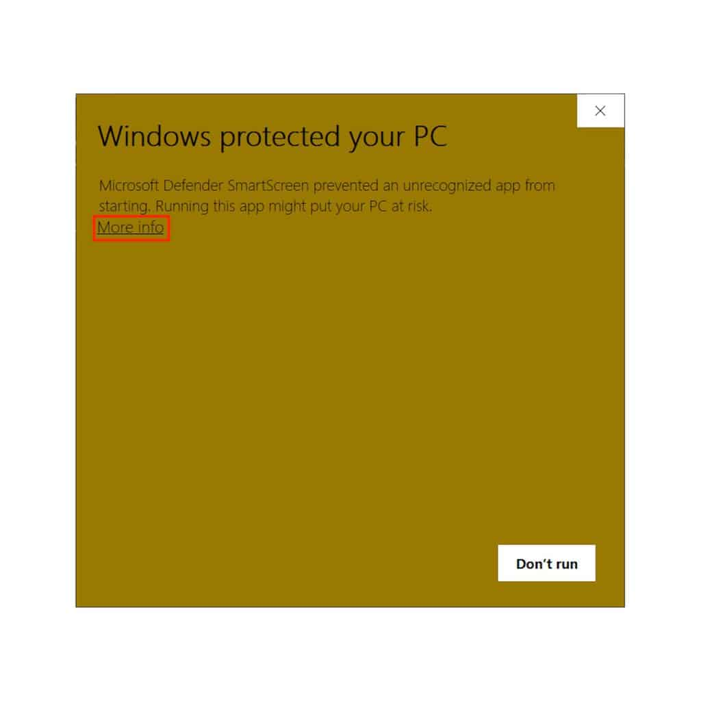 Microsoft Defender SmartScreen protecting against phishing or malware files