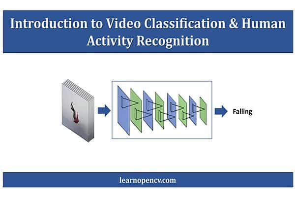 Image visualizing the process of video classification and human activity recognition.