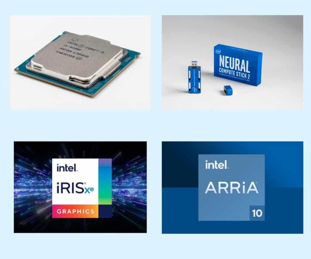 Image showing different intel hardwares that OpenVINO supports